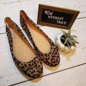 NWOT + Cheetah print flats